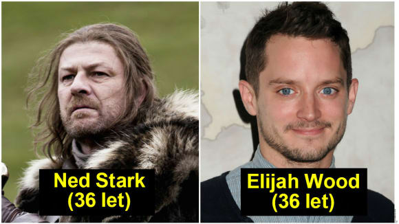 Ned Stark (35-36 let) - Elijah Wood (36 let)